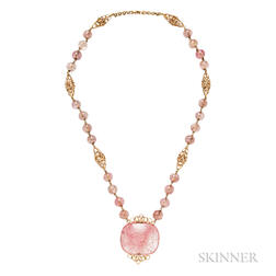 18kt Gold and Quartz Necklace, Cartier