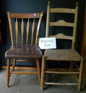 Eight Windsor Thumb-back Arrow-back Side Chairs and a Slat-back Side Chair