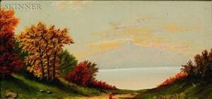 Manner of Benjamin Champney (American, 1817-1907)    Lot of Two New Hampshire Views: On the Saco River, North Conway