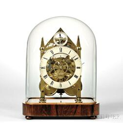 Miniature Hour-striking Fusee Skeleton Clock