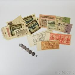 Small Group of German Inflation Money and Coins
