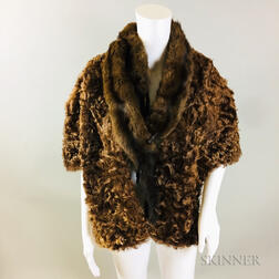 Two Fur Jackets and a Mink Stole.     Estimate $200-300