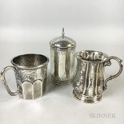Three Pieces of Silver Tableware