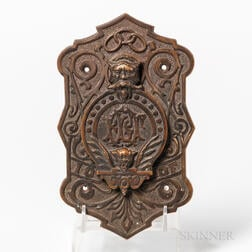 Cast Bronze Odd Fellows Door Peephole Cover