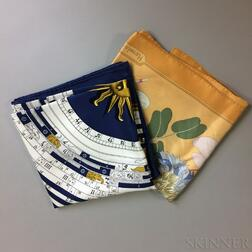 Two Hermes Silk Scarves