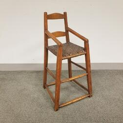 Country Ash Child's Chair with Woven Splint Seat