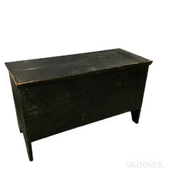 Black-painted Pine Six-board Chest