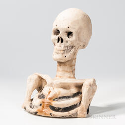 Papier-mache Odd Fellows Skeleton Bust
