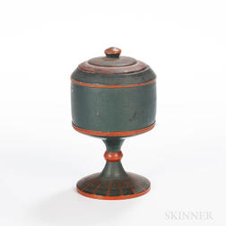 Turned and Painted Lidded Container