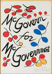 Alexander Calder (American, 1898-1976)      McGovern for McGovernment