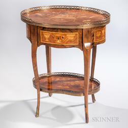 Louis XV-style Marquetry Table Ambulant