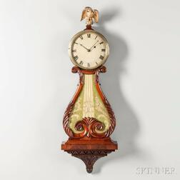 Mahogany Lyre Clock Attributed to Walter Durfee