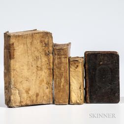 Latin Classics, Four Titles in Four Volumes: 1578-1647.