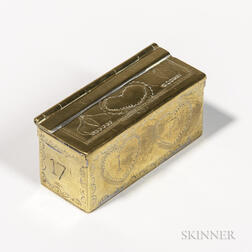 Small Engraved Brass Snuff Box