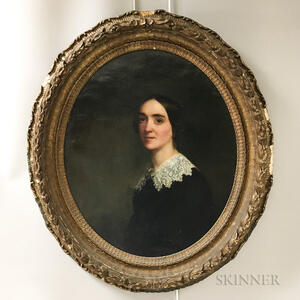 Anglo/American School, 19th Century       Portrait of a Woman with a Lace Collar