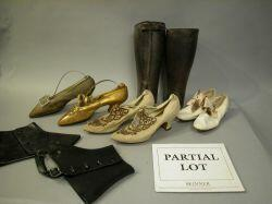 Assortment of Late Victorian and Early 20th Century Womens Shoes and Mens Spats.