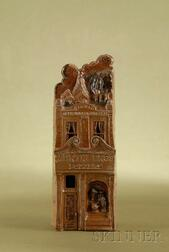 Brown Salt Glazed Stoneware Model of the Martin Brothers Shop
