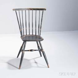 Diminutive Paint-decorated Fan-back Windsor Side Chair
