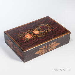 Faux Rosewood Grain- and Paint-decorated Sewing Box
