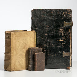 Concordantiae Bibliorum  , Paris: Sonnium, 1611, and Three Other Early Books.