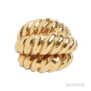 18kt Gold Dome Ring, Henry Dunay