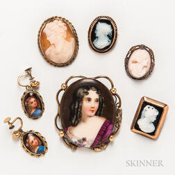 Group of Cameo and Portrait Jewelry