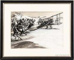 Depiction of Bedouins Chasing a Biplane