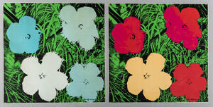 After Andy Warhol (American, 1928-1987)      Two Impressions of Flowers