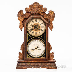 "Waterbury ""Oswego"" Oak Calendar Shelf Clock"