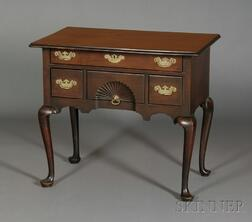 Queen Anne Mahogany Carved Dressing Table