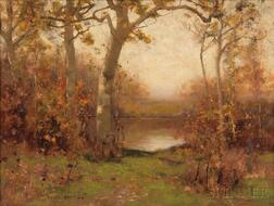 Bruce Crane (American, 1857-1937)    Pond in Autumn