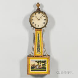 Mahogany and Gilt Gesso Patent Timepiece