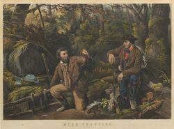"Currier & Ives, publishers (American, 1857-1907)  MINK TRAPPING.  ""Prime."""