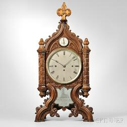 C.F. Younge Chiming Gothic Library Clock