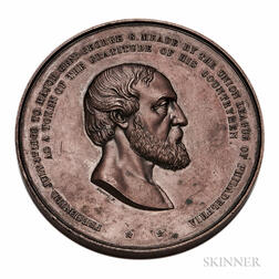 1866 Bronze General George Meade Medal