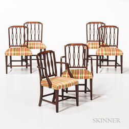 Two Miniature Armchairs and Four Miniature Side Chairs in the Style of John and Thomas Seymour