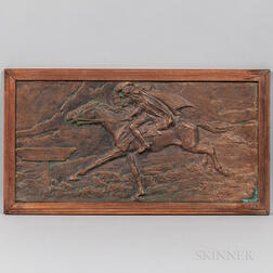 Bronze Paul Revere's Ride Plaque