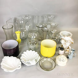 Group of Glass and Ceramic Tableware