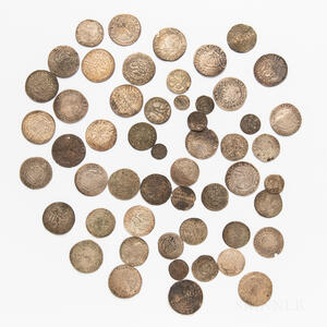 Approximately Fifty-four Saxony-Albertine Hammered Silver Coins