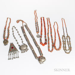 Nine Tribal Asian Trade Necklaces