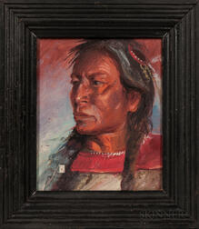 Oil on Canvas Portrait of an Indian Man