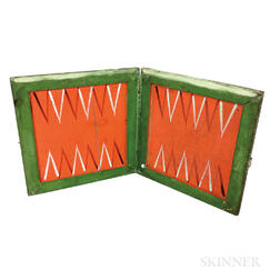 Polychrome Painted Pine Folding Game Board.     Estimate $200-300
