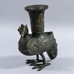 Bronze Bird-shaped Ritual Wine Cup