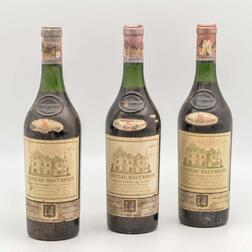 Chateau Haut Brion 1964, 3 bottles
