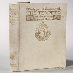 Shakespeare, William (1564-1616) The Tempest  , Illustrated and Signed by Edmund Dulac (1882-1953)