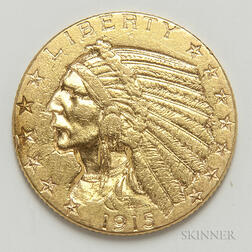 1915 $5 Indian Head Gold Coin