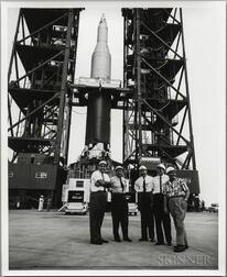 Project Apollo, Unmanned Tests, Saturn I SA-1, September 1961, Two Photographs; Saturn 1 SA-4, One Artist's Rendering.