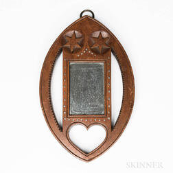 Carved and Inlaid Mirror