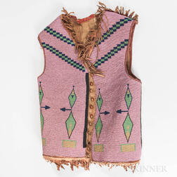 Plains Beaded Hide Vest