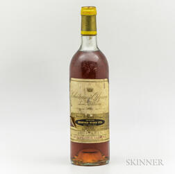 Chateau d'Yquem 1981, 1 bottle